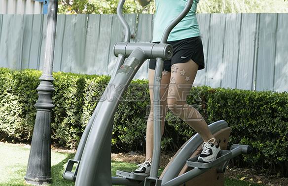 椭圆机 新国标塑木健身器材 - 奥康达